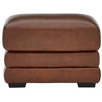 Hemsworth Premium Leather Footstool