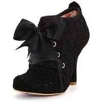 Irregular Choice Abigails Third Party Lace Up Shoe Boot - Black, Black, Size 7, Women