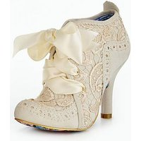 Irregular Choice Irregular Choice Abigails Third Party Wedding Shoe Boot, Cream, Size 4, Women
