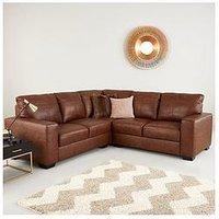 Product photograph showing Hampshire Premium Leather Corner Group Sofa