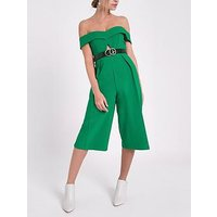 Ri Petite Cut Out Jumpsuit- Green