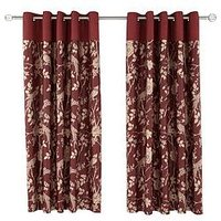 Product photograph showing Laurence Llewelyn-bowen Royal Rose Garden Eyelet Curtains