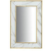 Marble Effect Border Mirror