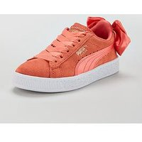 Puma Suede Bow Ac Childrens Trainer, Pink, Size 1