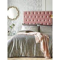 Ideal Home Heidi Ombre Velvet Duvet Cover Set - Silver
