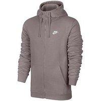 Nike Sportswear Club Fleece Full Zip Hoodie, Particle Rose, Size Xl, Men