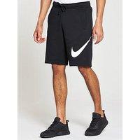 Nike Sportswear Club Fleece Logo Shorts, Black, Size M, Men