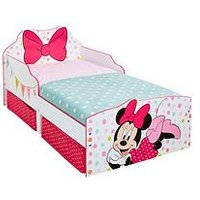 Product photograph showing Minnie Mouse Toddler Bed With Underbed Storage Drawers