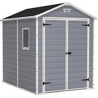 Product photograph showing Keter 6x8 Apex Manor Resin Shed
