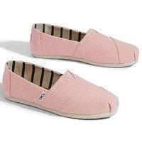 Toms Alpargata Espadrille, Powder Pink, Size 5, Women