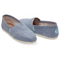 Toms Alpargata Espadrille Shoe - Blue , Blue, Size 3, Women