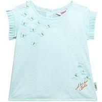 Baker by Ted Baker Toddler Girls Butterfly Cross Over Back T-Shirt, Light Blue, Size Age: 12-18 Months, Women
