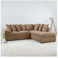 Product photograph showing Amalfi Right Hand Scatter Back Fabric Corner Chaise Sofa