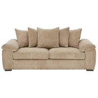 Product photograph showing Amalfi 3 Seater Scatter Back Fabric Sofa