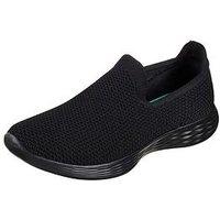 Skechers YOU - Define (Wide Fit) - Black , Black, Size 5, Women