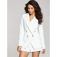 Michelle Keegan Co Ord Blazer, Ivory, Size 14, Women
