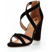 Miss KG Faun Strappy Heeled Sandal - Black, Black, Size 8, Women