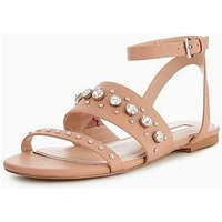 Miss KG Reach Jewel Sandal, Nude, Size 7, Women