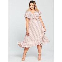 V By Very Curve Stripe Linen Dress