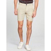 Selected Homme Paris Sand Linen Shorts, Cream, Size 2Xl, Men