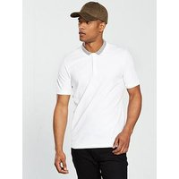 Selected Homme S/s Con Polo, White, Size L, Men