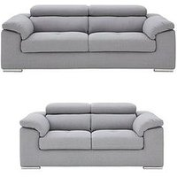 Product photograph showing Brady 3 Seater 2 Seater Fabric Sofa Set Buy And Save