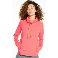 UNDER ARMOUR Featherweight Funnel Neck Fleece - Coral , Coral, Size Xl, Women