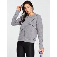UNDER ARMOUR Favourite Fleece Crew Sweater - Light Grey Heather , Light Grey Heather, Size M, Women