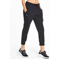 UNDER ARMOUR Woven Pant - Black , Black, Size Xs, Women
