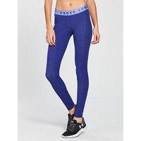 UNDER ARMOUR Favourite Legging - Blue , Blue, Size S, Women