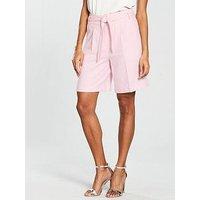 V by Very Linen Short - Blush, Blush, Size 8, Women