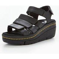 Dr Martens Dr Marten Verity Triple Strap Sandal, Black, Size 3, Women