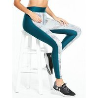 UNDER ARMOUR HeatGear® Armour Printed Legging - Teal , Teal, Size Xs, Women