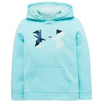 UNDER ARMOUR Girls Solid Big Logo Hoody, Mint, Size 7-8 Years, Women