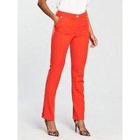 V by Very Military Slim Leg Trouser - Orange, Orange, Size 10, Women
