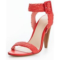 V by Very Havana Cone Heel Woven Sandal - Red, Red, Size 6, Women