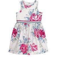 Cath Kidston Girls Floral Print Sleeveless Dress, Vintage Cream, Size 3-4 Years, Women