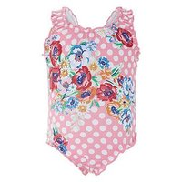 Monsoon Baby Anemone Swimsuit, Pale Pink, Size 2-3 Years