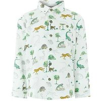 Boys, Monsoon Lemur Long Sleeve Shirt, Multi, Size 3-4 Years