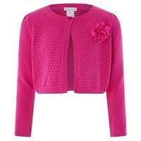 Monsoon Petunia Cardigan, Pink, Size Age: 12-13 Years, Women