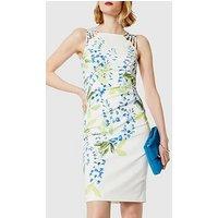 KAREN MILLEN Wisteria Print Dress, Multi, Size 8, Women