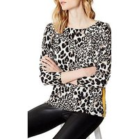 KAREN MILLEN Leopard Print Tunic, Leopard Print, Size Xs, Women