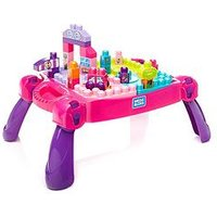 Mega Bloks Build 'N Learn Table (Pink)
