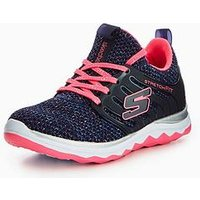 Skechers Skechers Girls Diamond Runner Sparkle Sprint Trainer, Navy/Pink, Size 5 Older