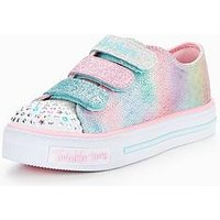 Skechers Girls Twinkle Toes: Shuffles - Ms. Mermaid Strap Plimsoll, Silver/Pink, Size 13 Younger