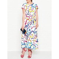 Ps Paul Smith Ribbon Print Maxi Dress - White