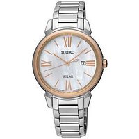 Seiko Mother of Pearl Dial Two Tone Ladies Watch, One Colour, Women