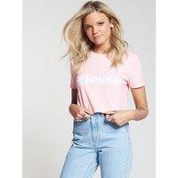 Ellesse Secca Crop T-Shirt, Pink, Size 10, Women