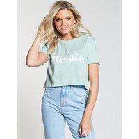 Ellesse Secca Crop T-Shirt - Blue , Blue, Size 12, Women