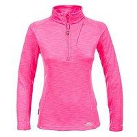 Trespass Fairford 1/2 Zip Top - High Vis Pink , Hi Vis Pink Marl, Size L, Women